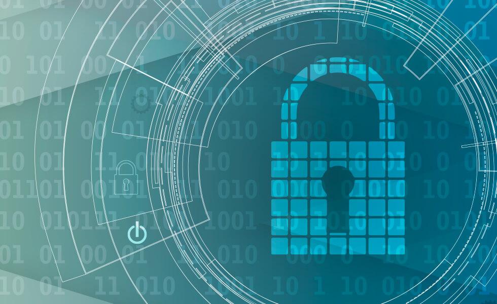 Schloss im Datennetz (verweist auf: Datenschutz – gut informiert)