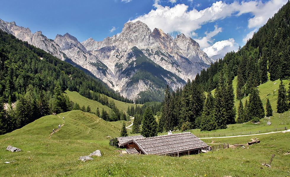 Berghütte in den Alpen