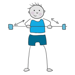 Illustration zu Übungen mit dem Schwingstab