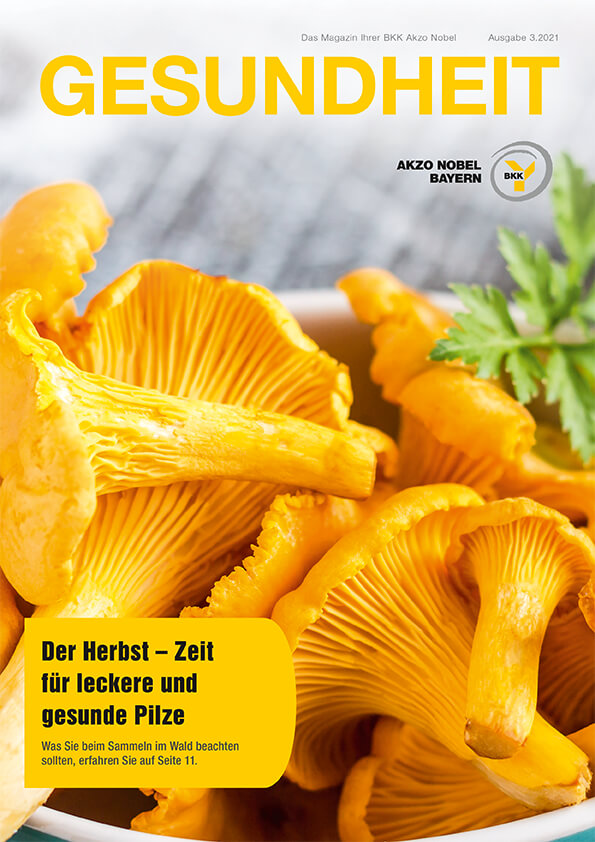 frische Pilze in einer Schale